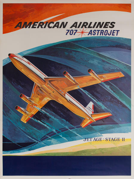 American Airlines Poster 707 Astro Jet : Jet Age Stage II