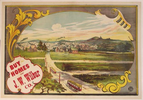 Original Vintage J W Wilbur Buy Homes Poster