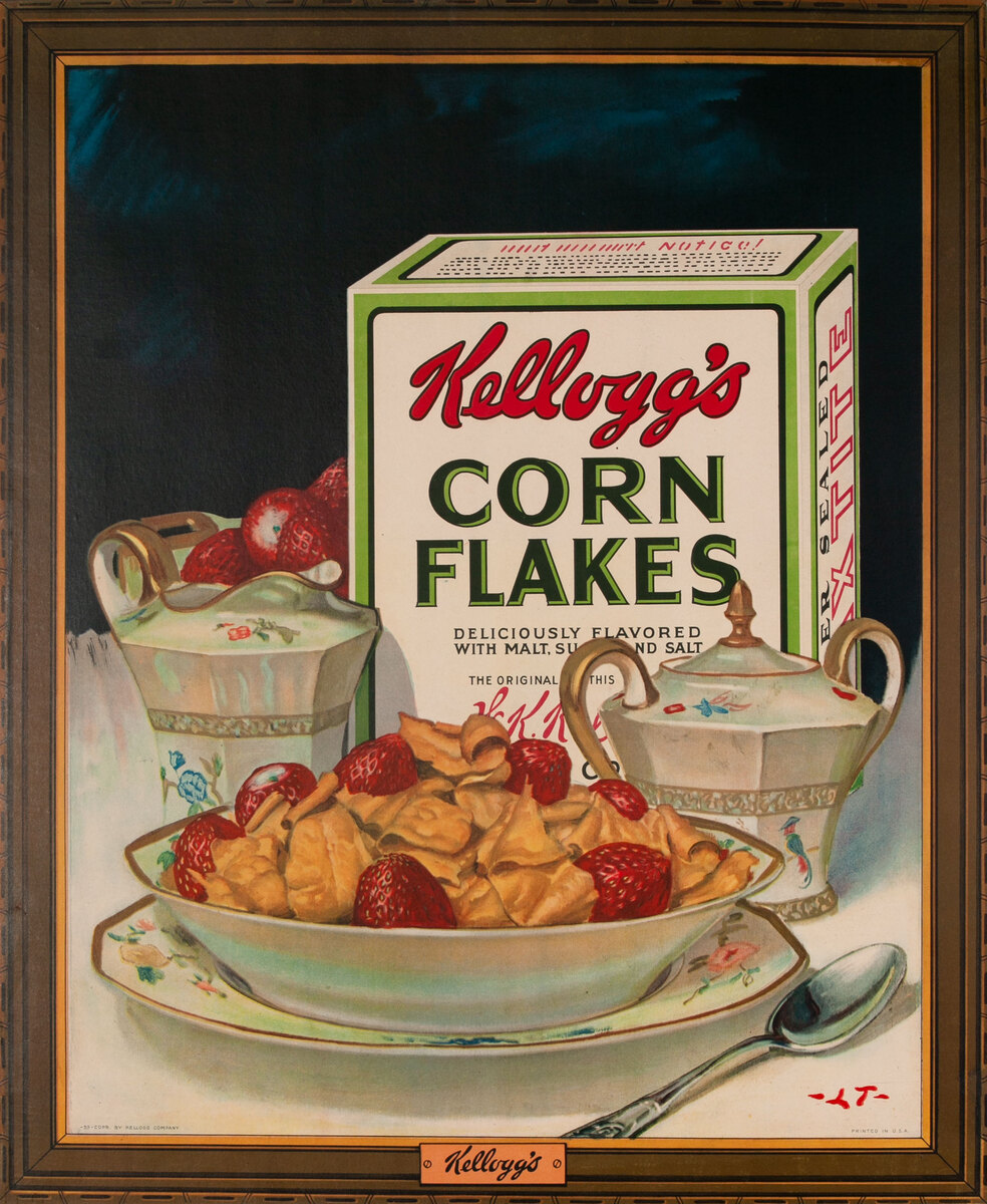 Kellogs Corn Flakes Original Advertising Poster