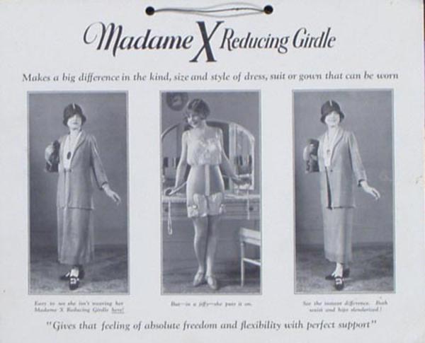 Madame X Girdles  Original Vintage Advertising Poster