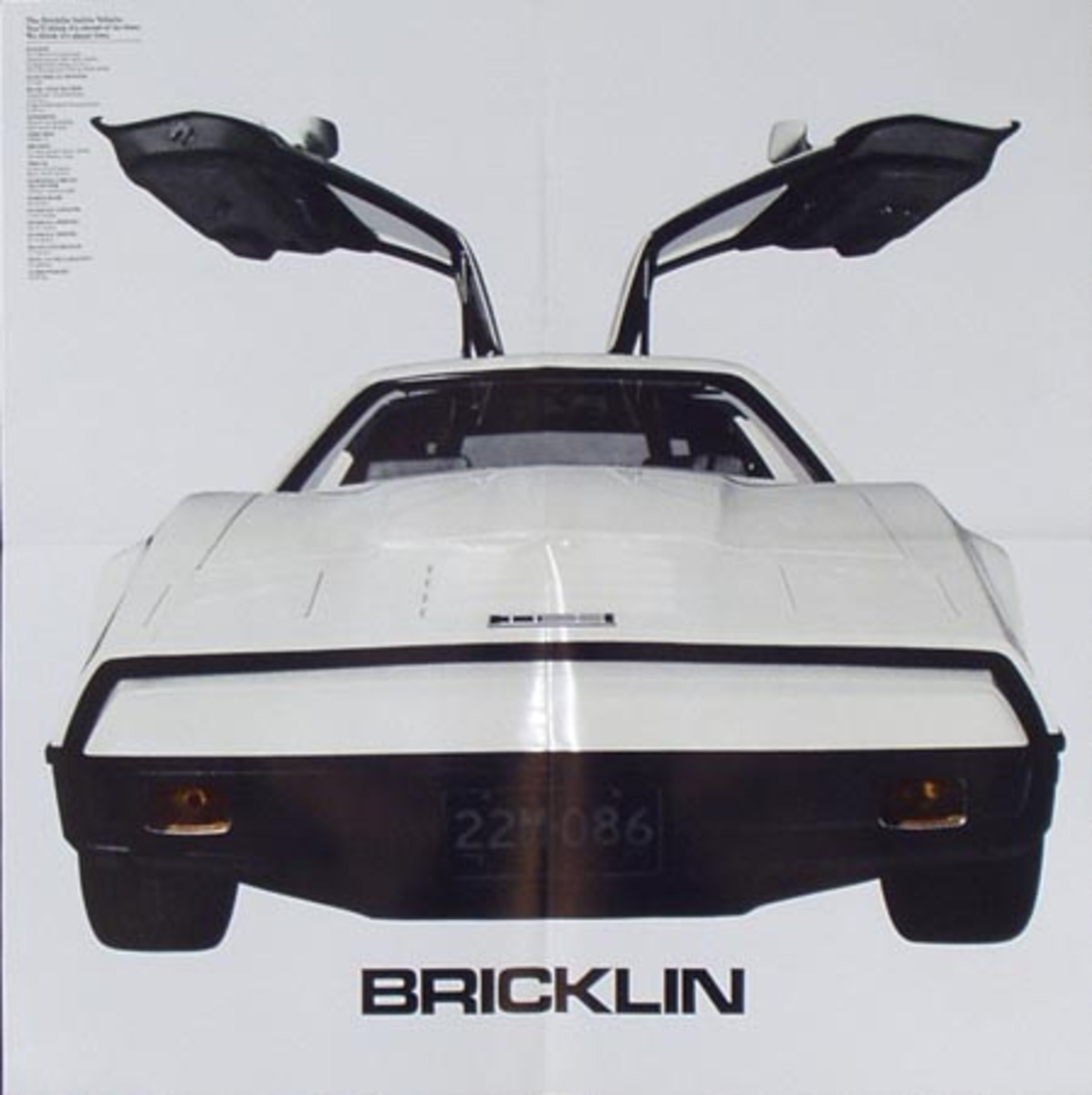 Bricklin Auto Original Advertising Poster