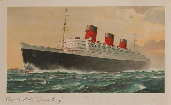 HMS Queen Mary Original Cruise Ship Poster