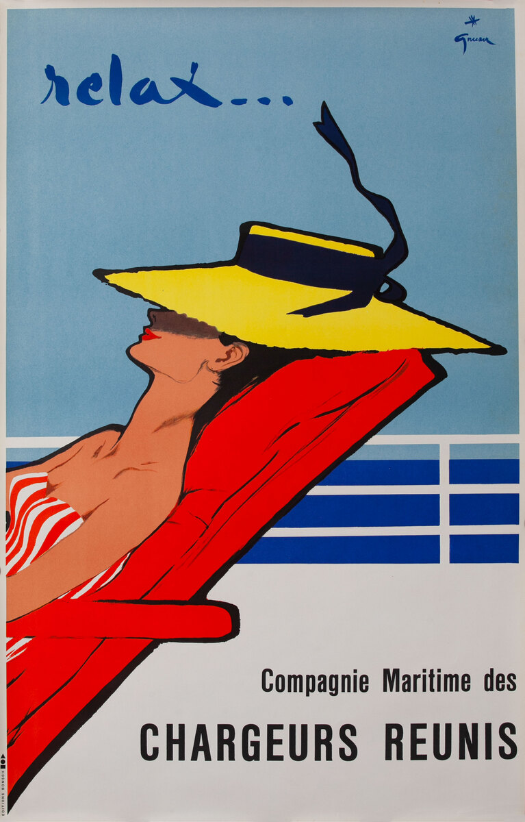 Relax Cruise Line Original Vintage Travel Poster