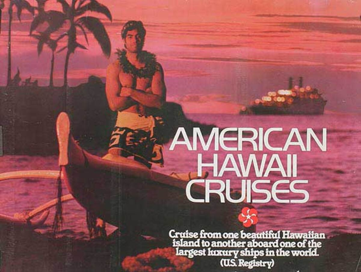 American Hawaiian Cruise Travel Poster