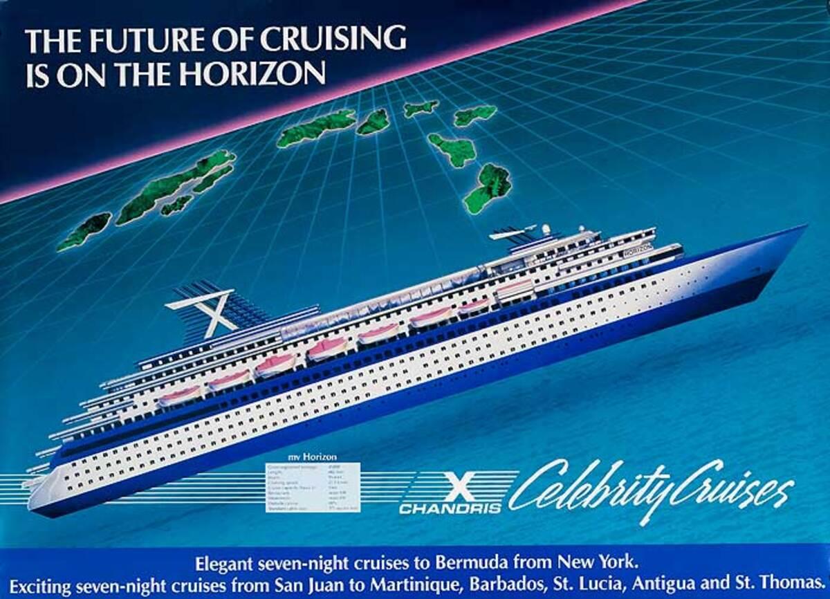 Celebrity Cruise Chandris Original Travel Poster