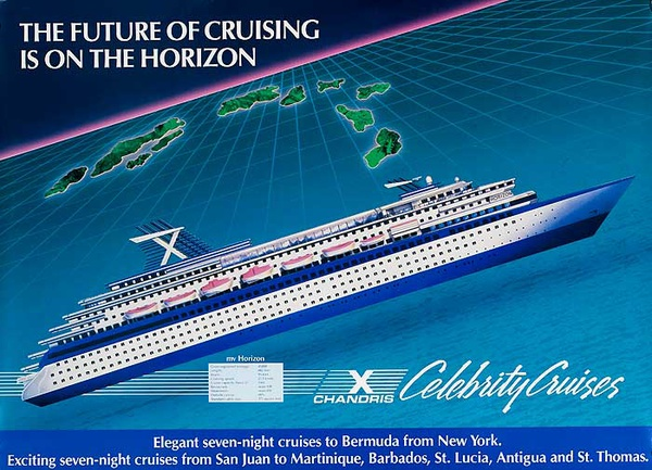 Celebrity Cruise Chandris Original Travel Poster
