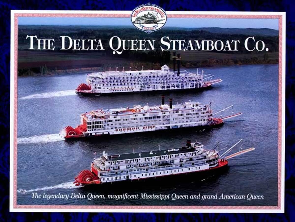 The Delta Queen Steamboat Company Original Travel Poster