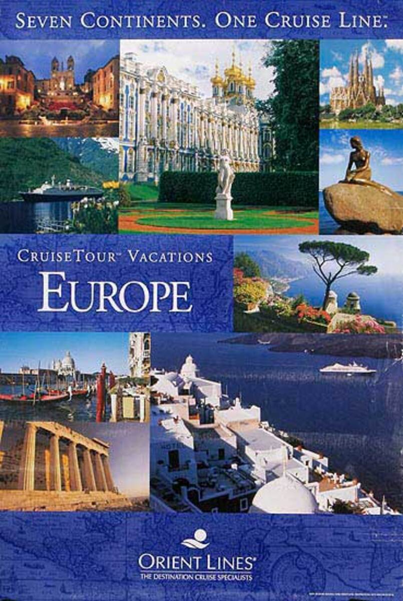 Orient Lines Europe Cruise Travel Poster photo montage