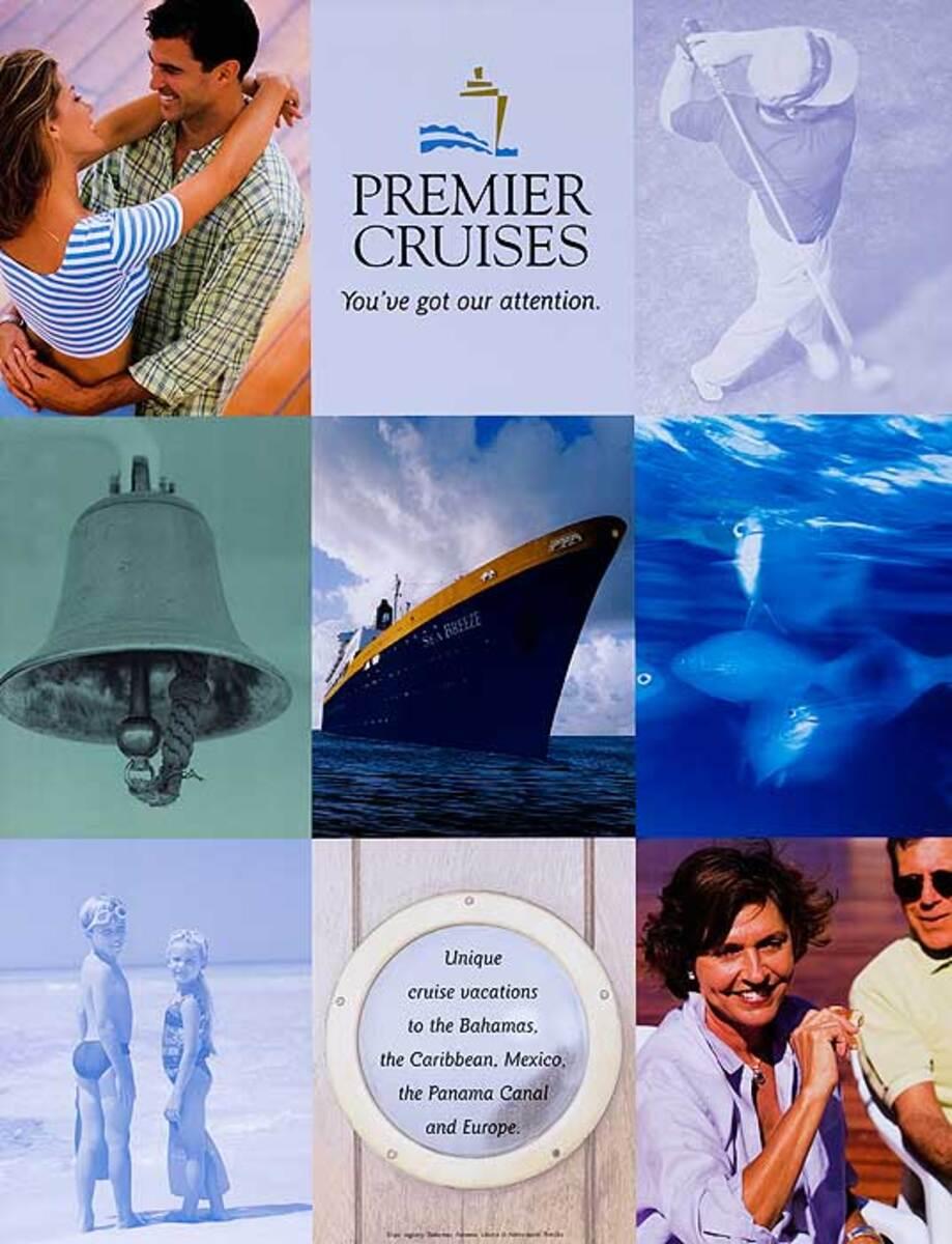 Premier Cruises Original Cruise Line Travel Poster