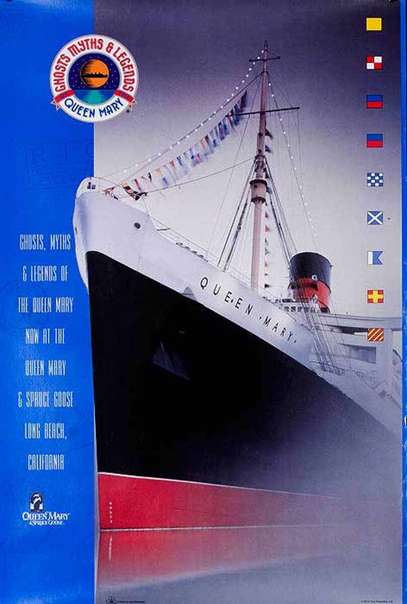 Ghosts of the Queen Mary Original Cruise Line Travel Poster