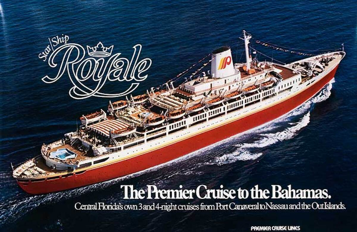 Star Ship Royale Original Cruise Line Travel Poster