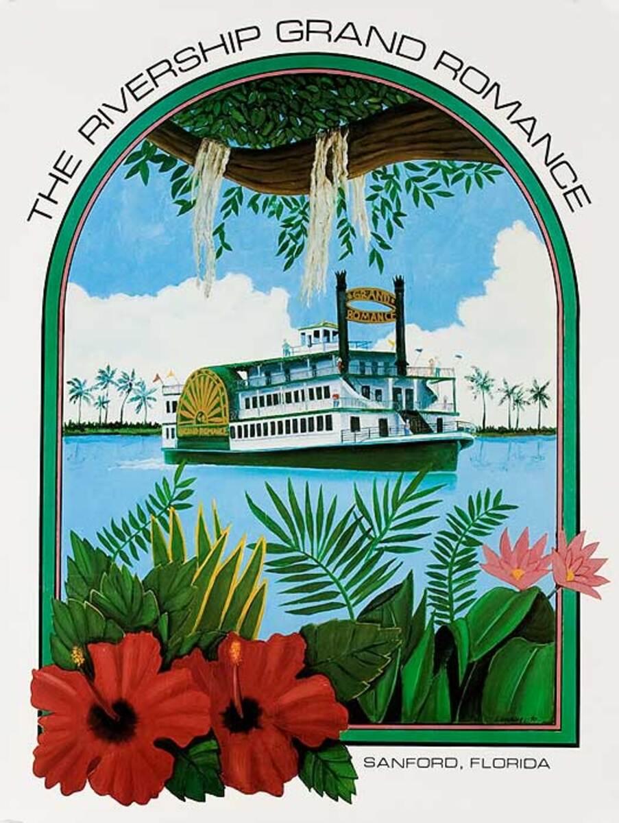 The Rivership Grand Romance Original American Cruise Line Poster