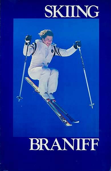 Braniff Airlines Original Poster [[Ski]]ing