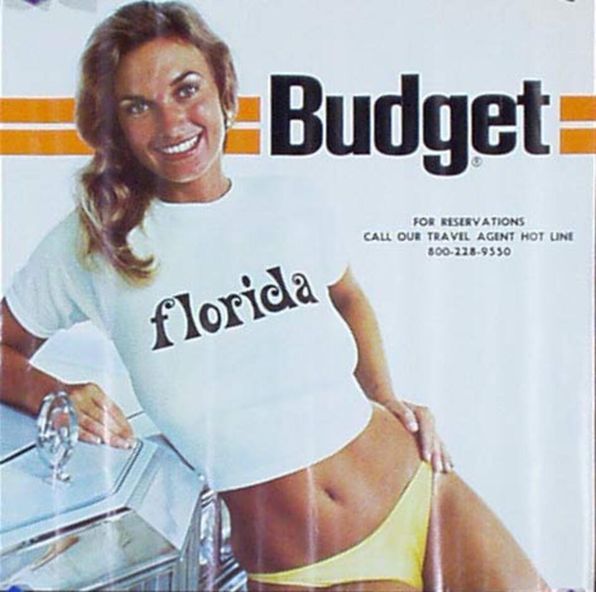 Budget Car Rental Original Advertising Poster