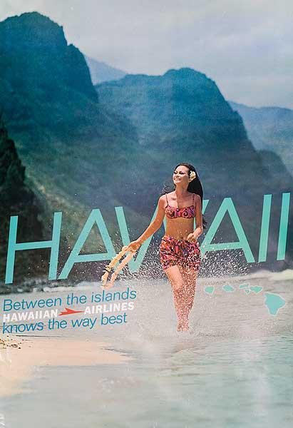 Hawaiin Airlines Knows The Way Best Original Travel Poster
