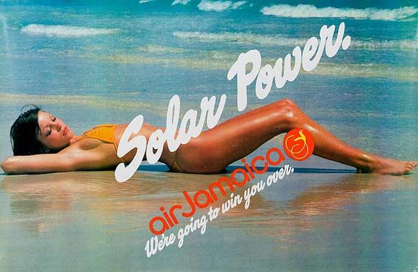 Solar Power Original Air Jamaica Travel Poster