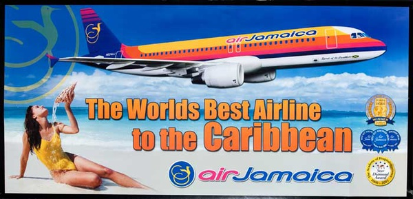 The World's Best Airline to the Caribbean Original Air Jamaica Travel Poster
