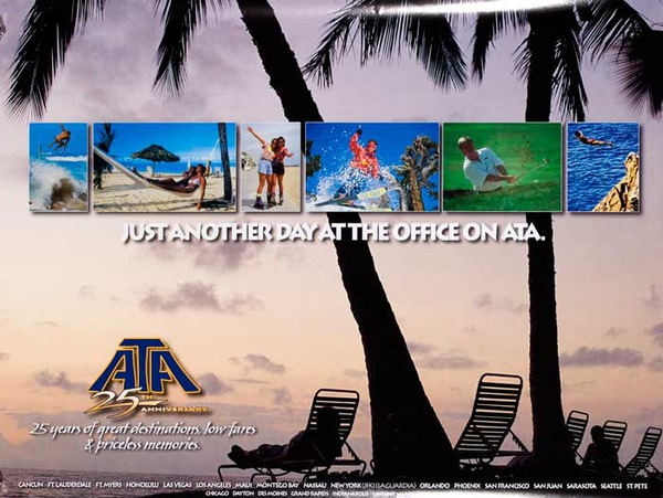 Just Another Day At The Office Original ATA Travel Poster