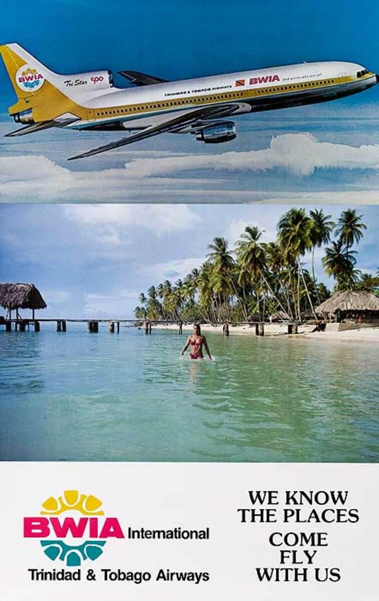 BWIA Trinidad and Tobago Original Travel Poster