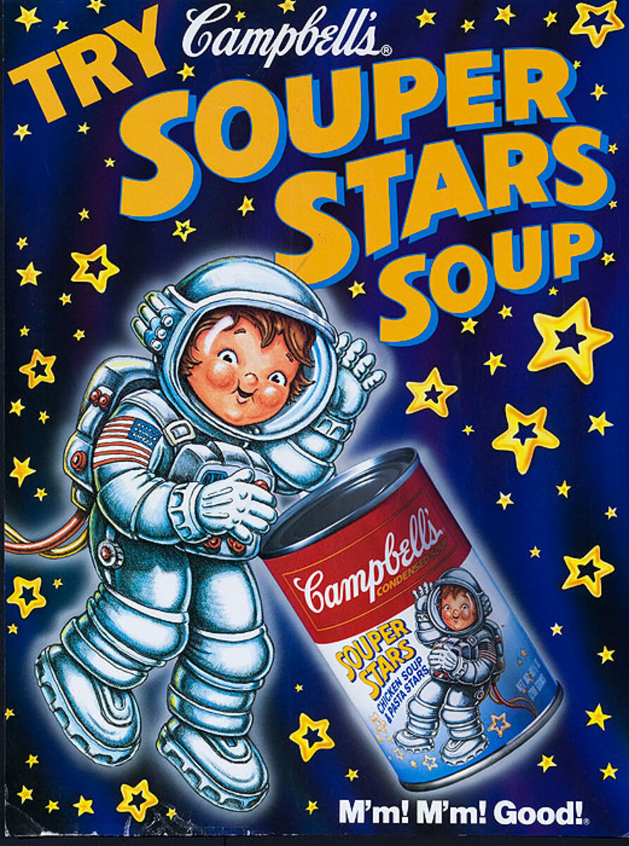 Try Campbell's The Souper Stars American Advertising Poster