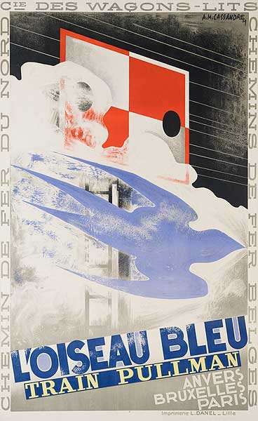 L'Oiseau Bleu Train Pullman Original French Travel Poster