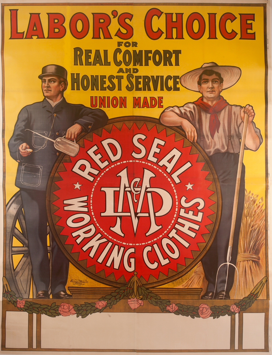 Original Red Seal Working Clothes Advertising Poster