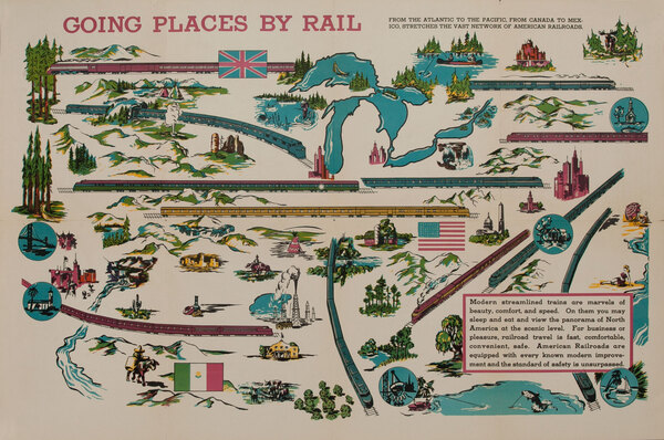 Going Places By Rail Original Educational Poster