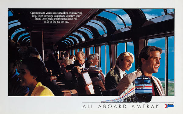 All Aboard Amtrak Original American Railway Poster