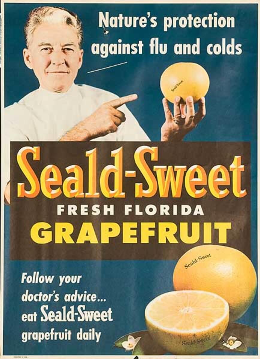 Nature's Protection Seald-Sweet Grapefruit Original American Advertising Poster