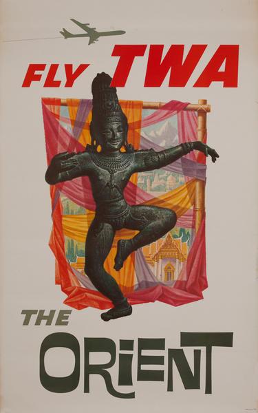 TWA Original Vintage Travel Poster The Orient