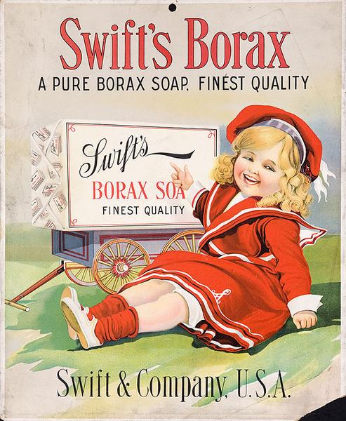 Swift Borax Soap Original American Advertisng Poster