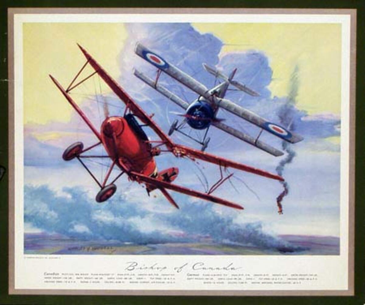 Vintgage Aviation Print Bishop of Canada