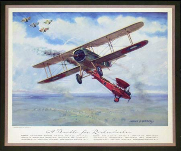Vintgage Aviation Print A Double For Rickenbacker