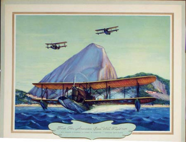 Vintgage Aviation Print First Pan-American Good Will Flight 1925