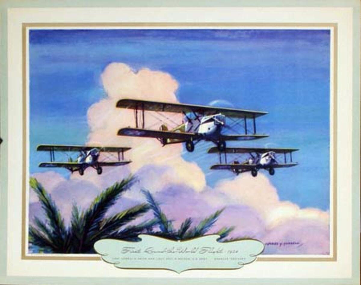 Vintgage Aviation Print First Round the World Flight 1924