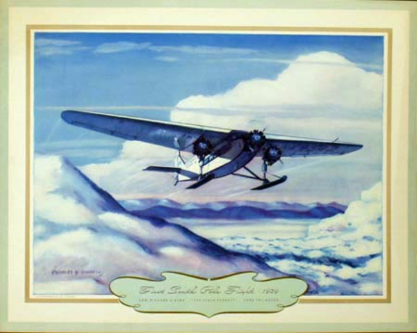 Vintgage Aviation Print First South Pole Flight 1929