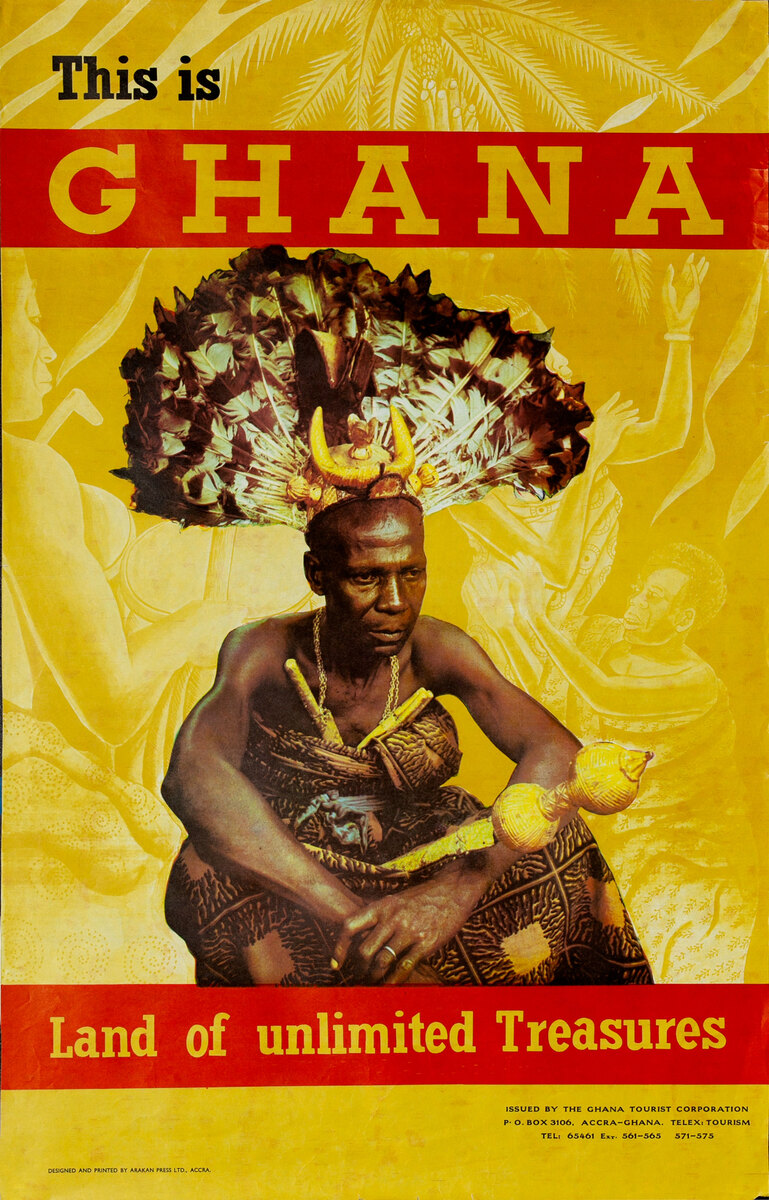 This is Ghana land of Unlimited Treasures Original Travel Poster Africa