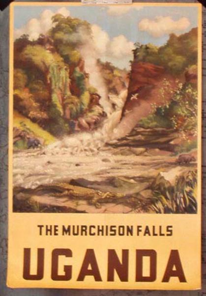 Uganda Upper Muchison Falls Original Vintage Travel Poster