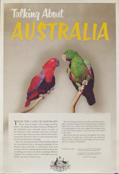 Birds of Australia Original Travel Poster