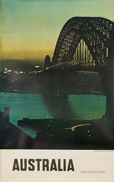 Sydney Australia Bridge Photo Original Travel Poster