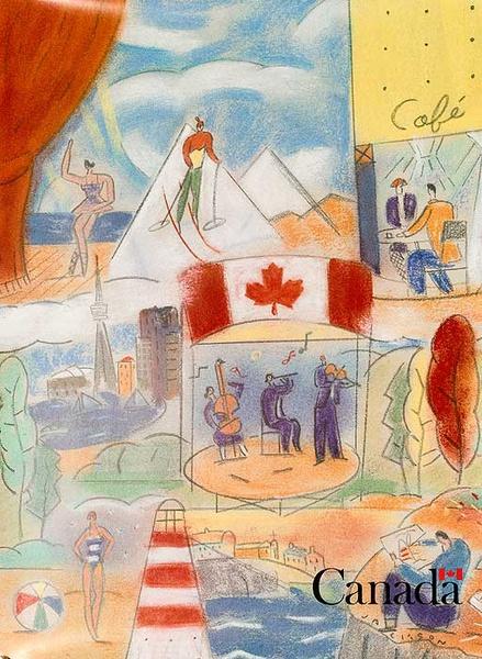 Canada Original Travel Poster Watercolor Scenes