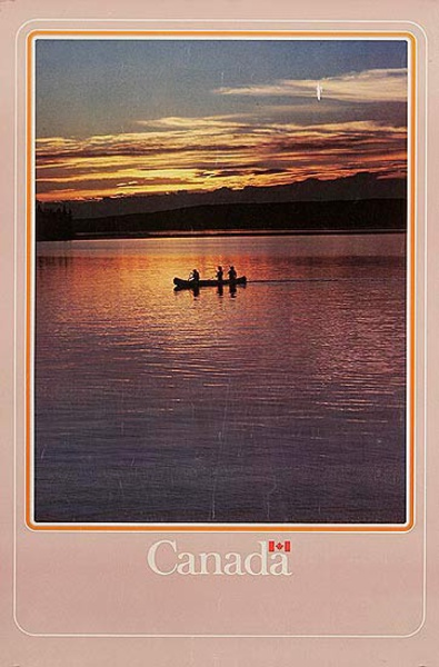 Canada Travel Poster canoe