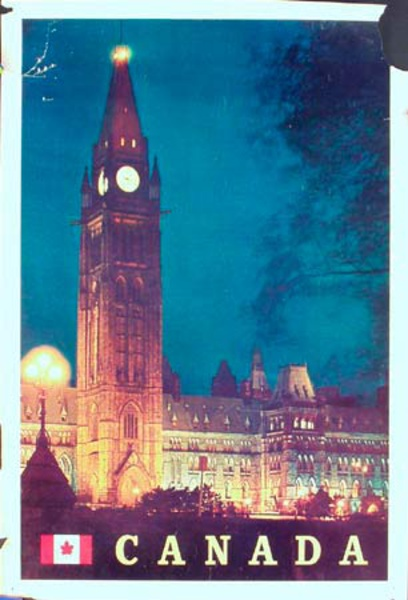 Canada Travel Poster photo of parliment