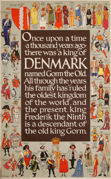 Denmark Costumes Original Vintage Travel Poster