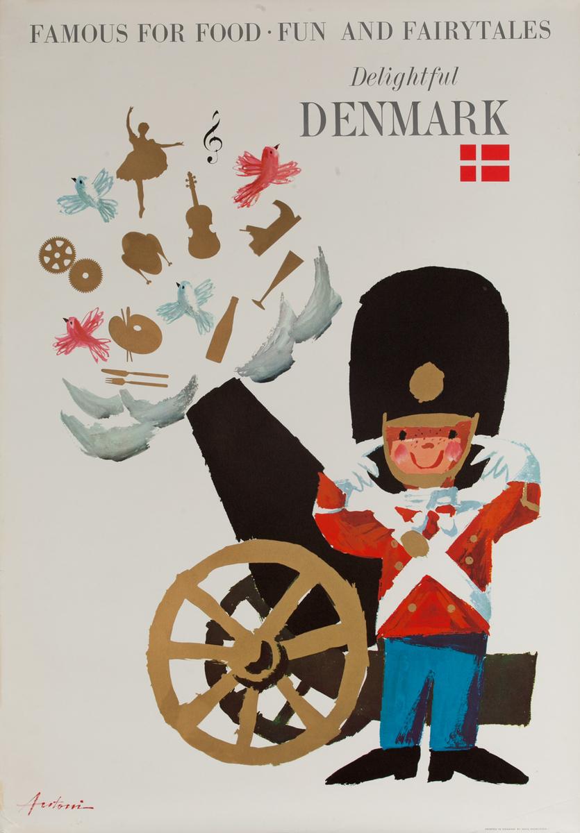 Delightful Denmark Original Danish Travel Poster