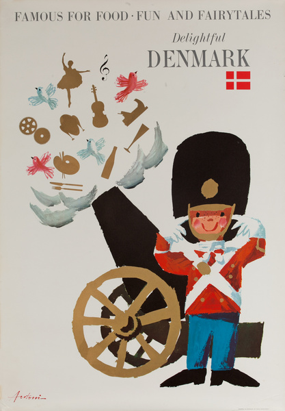 Delightful Denmark Original Danish Travel Poster
