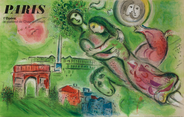 Original Marc Chagall Paris Opera Travel Poster
