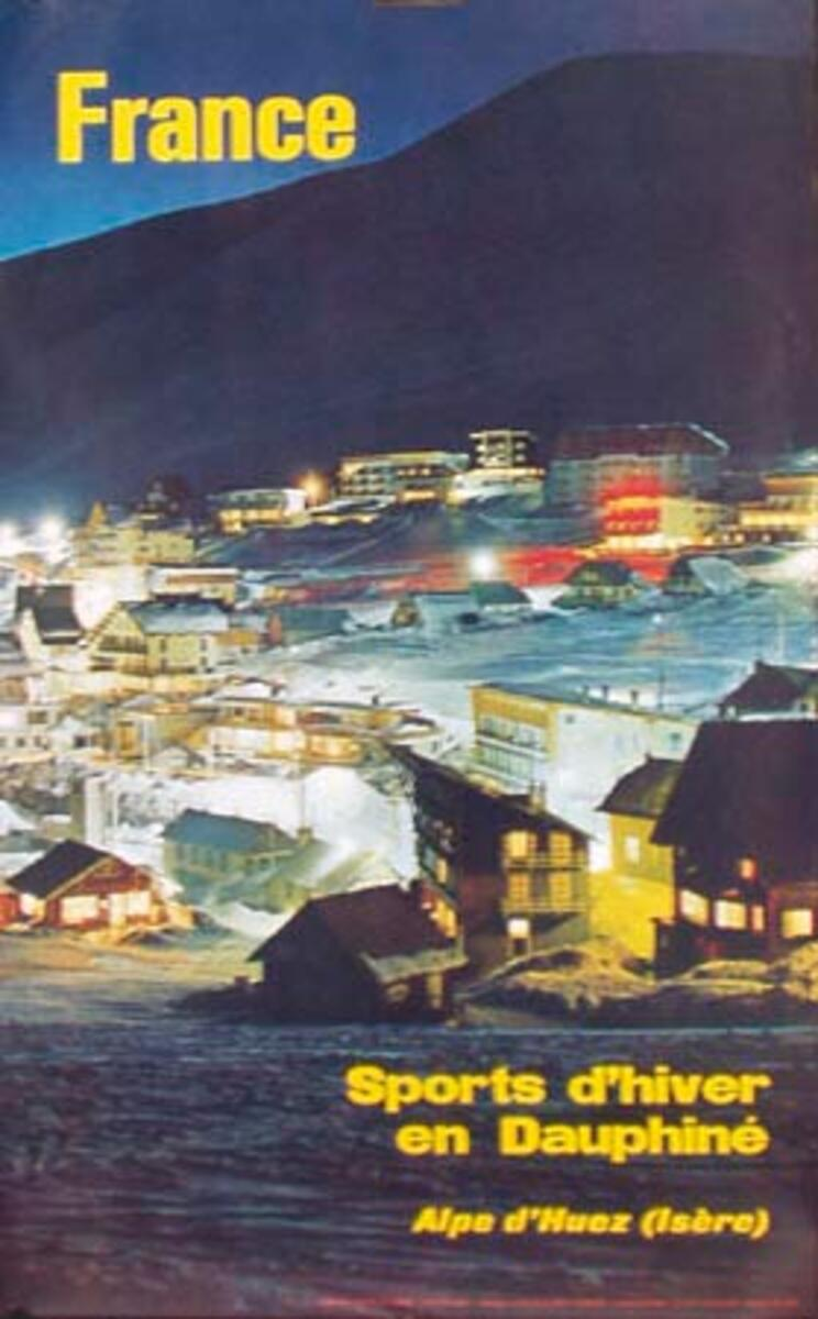 Alpe d'Huez Isere Original French Travel Poster