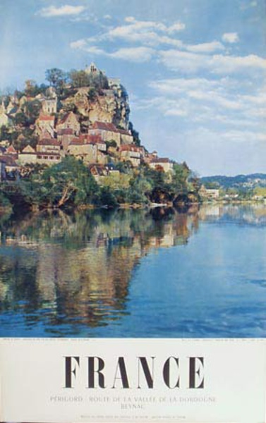 French Original Vintage Travel Poster The Perigord Route