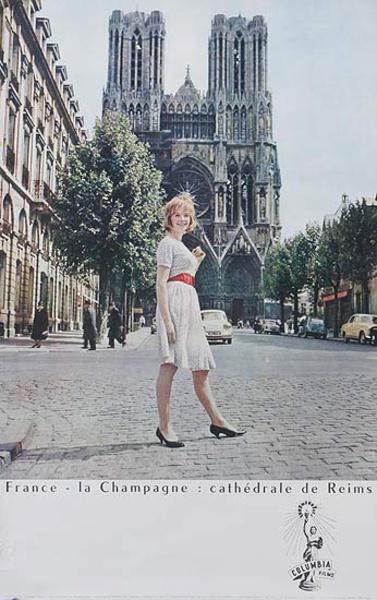 France la Champagne Cathedral de Reims Original Travel Poster